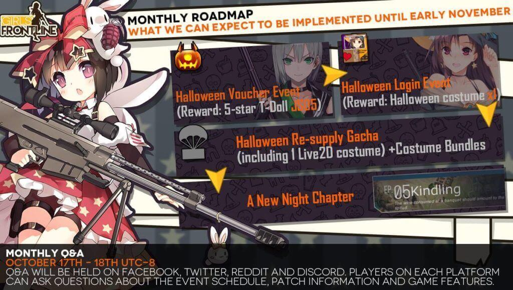 Monthly Road Map for October: Midnight Chapter 5, Halloween Events and More