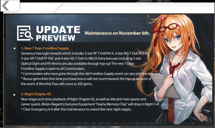 Nov. 6th Update: Night Chapter 5