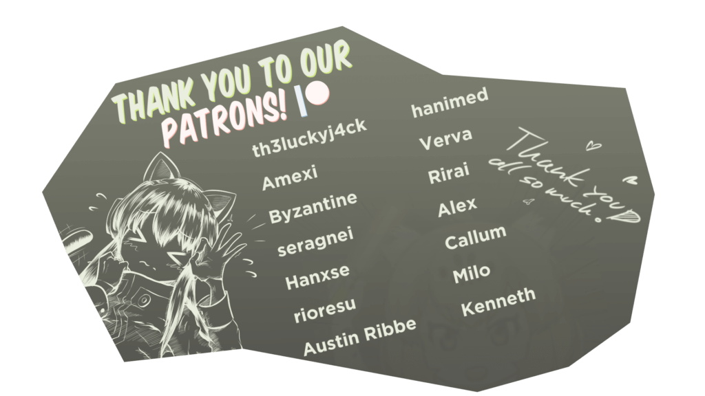 Thank you to our Patrons!